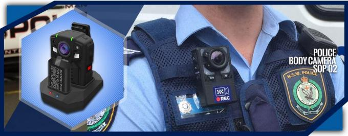 2 IR Light Wireless Civilian Body Cameras On Police Officers High Performance