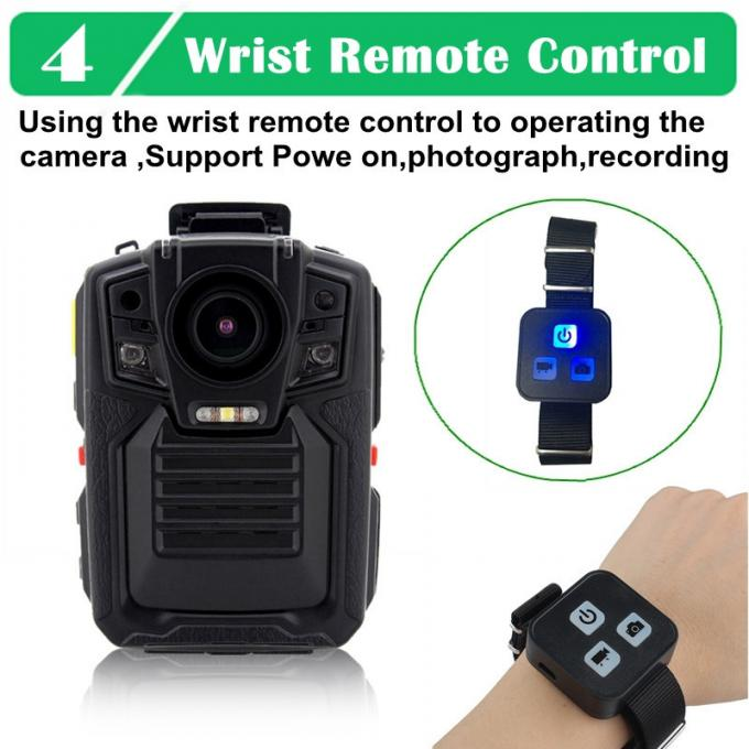 Military HD WIFI Body Camera 10 Hours Recording With Remoter 128GB