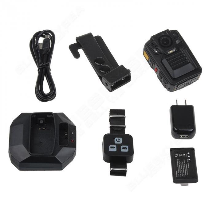 High Resolution WIFI Police Body Cameras With GPS Drop Resistance 2m