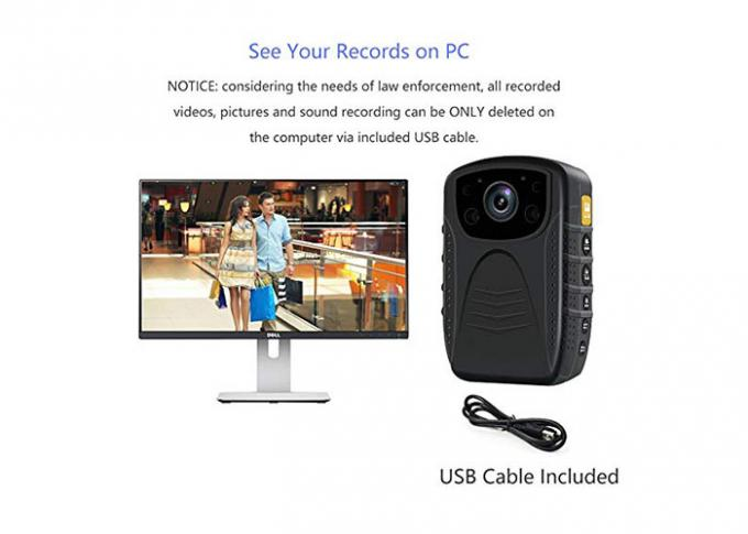 HD 1296P Waterproof Body Worn Camera Loop Recording Motion Detection for Police