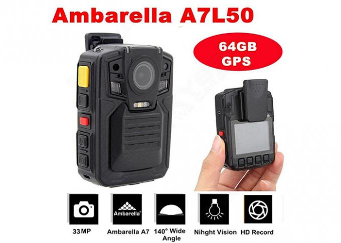 Full HD Portable Wearing HD Body Camera for Police With WiFi GPS Optional