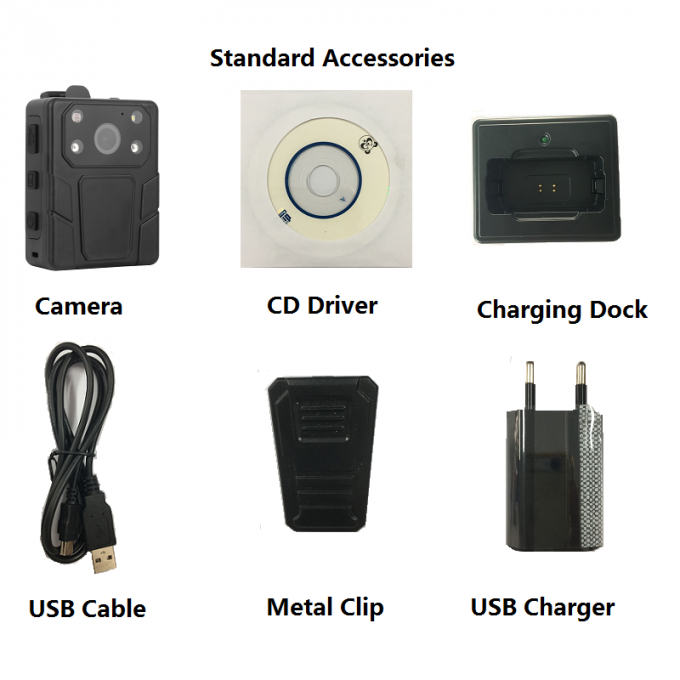 Police Body Camera Recorder with docking charger