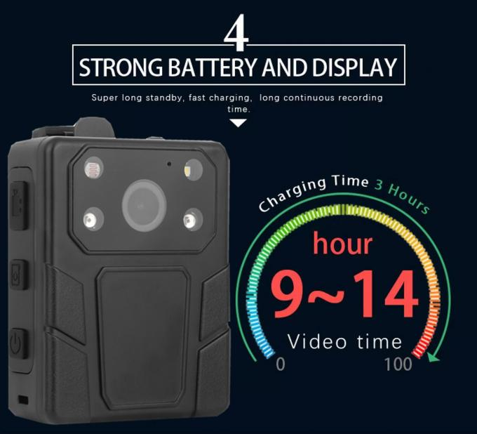 Wide Angle 140 Degree Security Guard Body Camera 32GB IP67 With 2 IR Lights 0